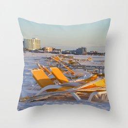 Calm Chaos at the Beach Throw Pillow