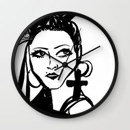 M with cross Wall Clock