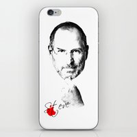 steve jobs iPhone & iPod Skins featuring Steve Jobs by lovetoclick