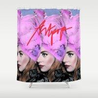 artpop Shower Curtains featuring Artpop Revolution by Avinash. H (AVOH)