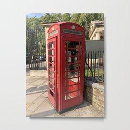 London phone booth / phone box Metal Print