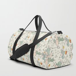 Prickly Pear Cacti and Triangles Duffle Bag