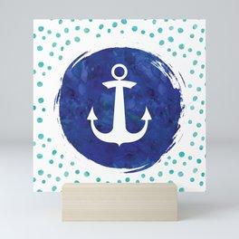 Watercolor Ship's Anchor Mini Art Print