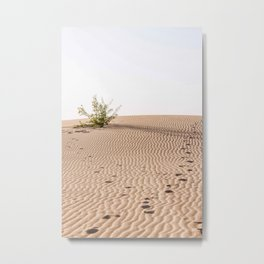 Footsteps in the dunes of Corralejo | Calm natural travel fine art print | Fuer Metal Print