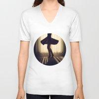 dancer V-neck T-shirts featuring Dancer by Kameron Elisabeth