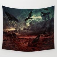 raven Wall Tapestries featuring Raven by Artharik