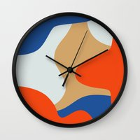 chill Wall Clocks featuring Chill by Tra Dao