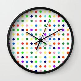 not Damiens dots Wall Clock