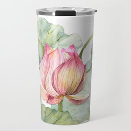 Lotus Metaphor for Feminine Beggining Travel Mug