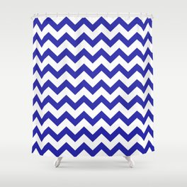 Chevron (Navy & White Pattern) Shower Curtain
