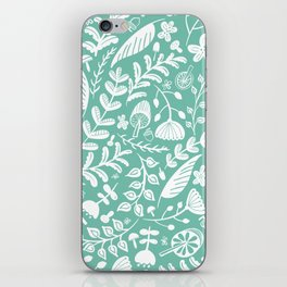 Forest Flora Green iPhone Skin
