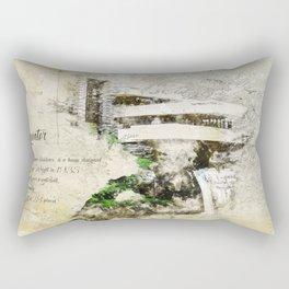 Fallingwater Landscape Rectangular Pillow
