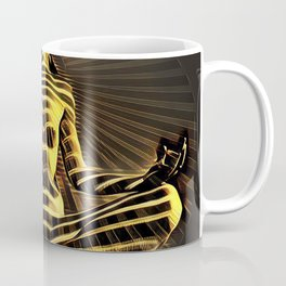 2329-JPC Abstract Striped Nude Powerful Woman Creator Goddess Radiating Golden Feminine Coffee Mug