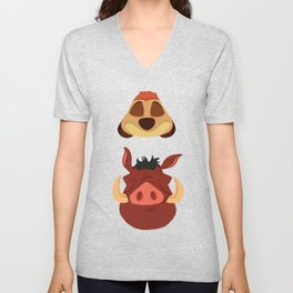 Timon and Pumbaa Unisex V-Neck