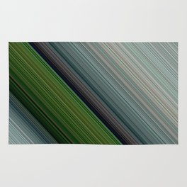 Decorative Colorful Green Blue Lines Design Rug