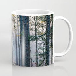 Mystic Forest - Early Morning Glow in Smoky Mountains Coffee Mug
