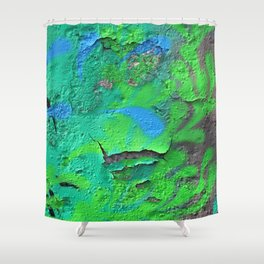 Green Entropy II Shower Curtain