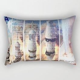 Apollo 11 Blast Off Rectangular Pillow
