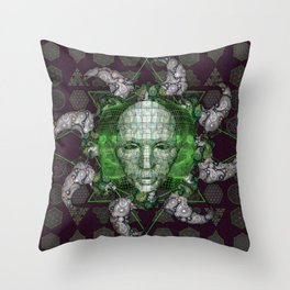 Cybernetic Throw Pillow