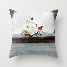 shopping for astronauts Throw Pillow