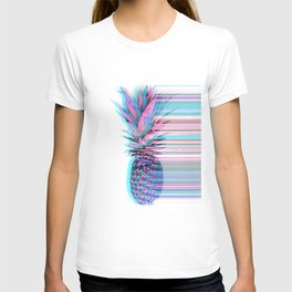 Light Blue and Pink Pineapple T-shirt