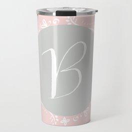 Garland Initial B - Grey Travel Mug