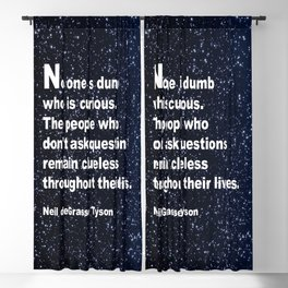Neil deGrasse Tyson's quote Blackout Curtain