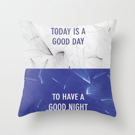 Good Day & Good Night Throw Pillow