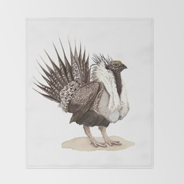 Greater Sage-Grouse Throw Blanket