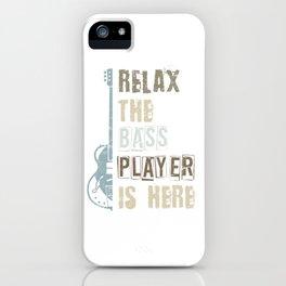 Bass Guitar Player Bassist iPhone Case