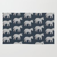 unicorns Area & Throw Rugs featuring Unicorns  by Katelyn Patton