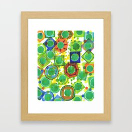 Green Core Qualities Framed Art Print