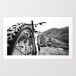 Two Wheel Hike Art Print
