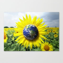 Earth Flower Canvas Print