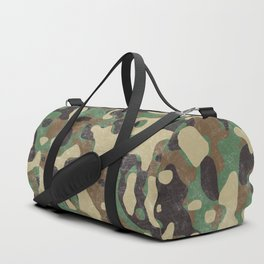 Distressed Army Camo Duffle Bag