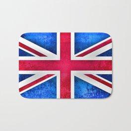 Grunge British Flag Bath Mat