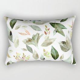 Watercolor fallen leaves 14 Rectangular Pillow