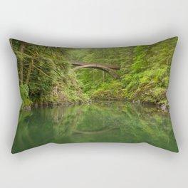 Emerald Reflections Rectangular Pillow