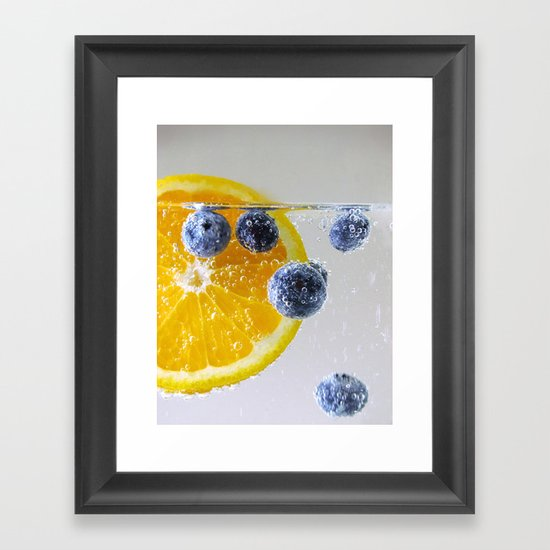 Bubbly Fruit Framed Art Print