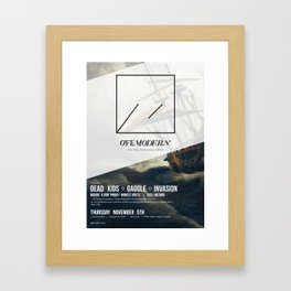 OM04: Off Modern Framed Art Print
