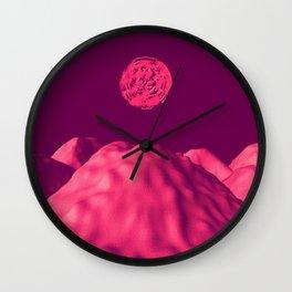 Martian Sunset Wall Clock