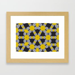 Chains in Yellow Framed Art Print
