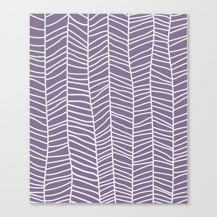 Baesic Herringbone (Eggplant) Canvas Print
