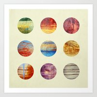 planets Art Prints featuring Planets by Elisabeth Fredriksson
