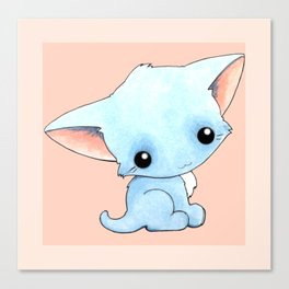 Little Blue Kitty Canvas Print