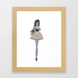 Shy Lolita Girl Framed Art Print