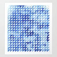 Splatter triangles Art Print