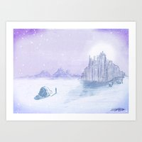 Snow Day in July Art Print
