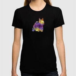 Australian Silky Terrier in watercolor T-shirt