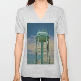 Tower And Clouds Unisex V-Neck